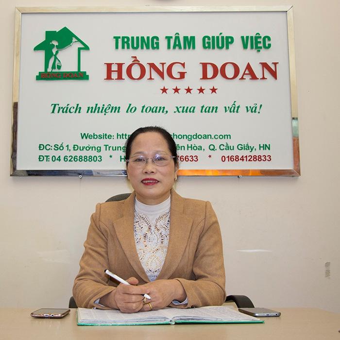 Bà Nguyễn Thị Hồng Doan - Giám đốc Trung tâm Giúp việc Hồng Doan